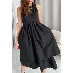 Sukienka IVET czarna elegancka bez rękawów