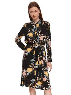 Koszulowa sukienka w kwiaty
