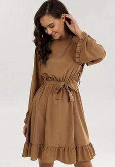Ciemnobeżowa Sukienka Rissyss