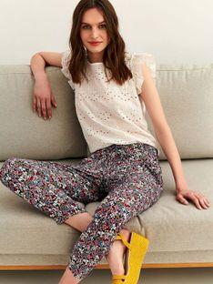 Printowane spodnie tkaninowe
