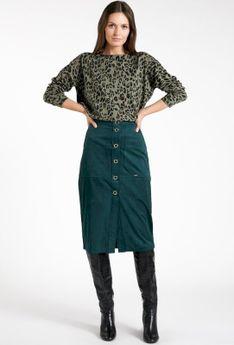 Spódnica midi z imitacji zamszu