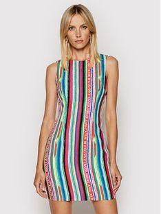 Versace Jeans Couture Sukienka koktajlowa Cady Print Handstripes 71HAO901 Kolorowy Regular Fit