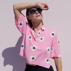 Reserved - Bluzka EcoVero™ - Różowy