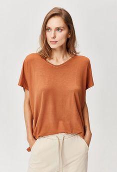 Gładka koszulka z kolekcji basic