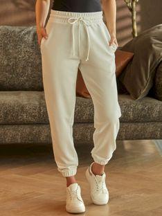 Dresowe białe spodnie z kieszeniami L'AF DIX