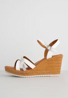 Tamaris - Sandały na koturnie - biały