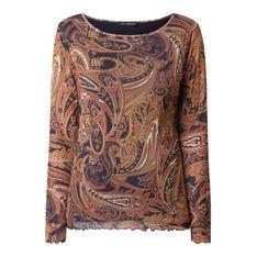 Bluzka z długim rękawem ze wzorem paisley