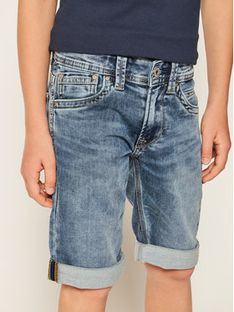 Pepe Jeans Szorty jeansowe Tracker PB800337 Granatowy Slim Fit