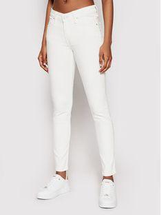 Lee Jeansy Scarlet L526KW36 Biały Skinny Fit