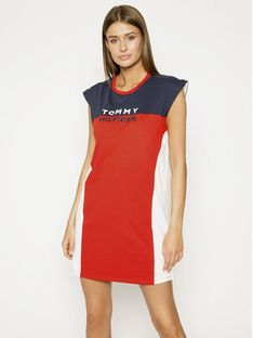 Tommy Hilfiger Sukienka plażowa UW0UW02162 Czerwony Relaxed Fit