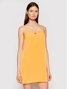 Calvin Klein Jeans Sukienka codzienna J20J215669 Pomarańczowy Regular Fit