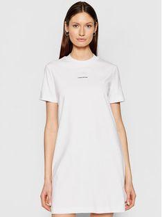 Calvin Klein Jeans Sukienka codzienna J20J215654 Biały Regular Fit