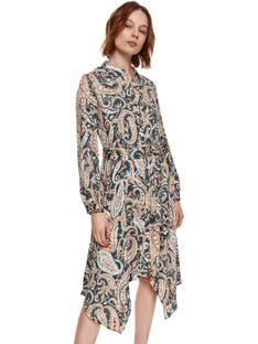 Printowana sukienka z wiskozy