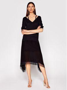 TwinSet Sukienka dzianinowa 211TT3190 Czarny Regular Fit
