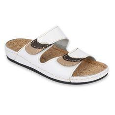 Inblu klapki obuwie damskie  158D172 białe