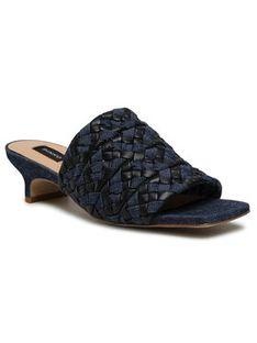 Pinko Klapki Adonis 2 Sandalo PE 21 BLKS1 1H20TM Y719 Granatowy