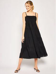 Seafolly Sukienka plażowa Tired 53862-DR Czarny Regular Fit