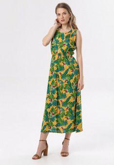 Żółto-Zielona Sukienka Lithea
