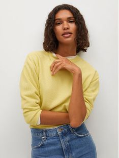 Mango Sweter Circle 87095642 Żółty Regular Fit
