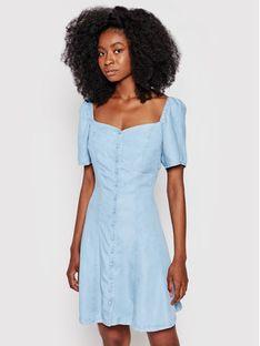 Guess Sukienka jeansowa W1GK74 D4D22 Niebieski Regular Fit