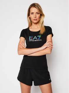 EA7 Emporio Armani T-Shirt 3KTT29 TJAPZ 1200 Czarny Slim Fit