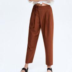 Reserved - Spodnie carrot - Bordowy