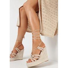 Sandały damskie Born2be z klamrą z zamszu