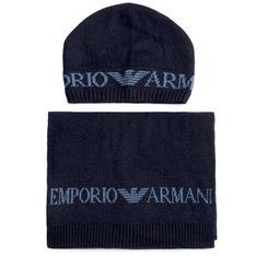 Zestaw Szalik i Czapka EMPORIO ARMANI - 628001 0A850 00035  Blue