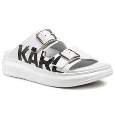Klapki KARL LAGERFELD - KL62505 White Lthr