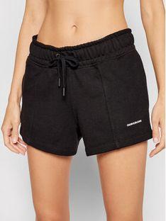 Calvin Klein Jeans Szorty sportowe J20J216228 Czarny Regular Fit