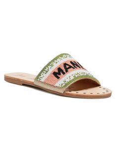 Manebi Klapki Leather Sandals S 3.8 Y0 Kolorowy