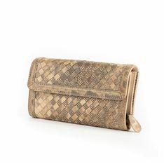 Długi portfel z klapką