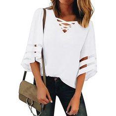Sandbella bluzka damska biała wiosenna