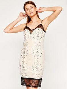 TwinSet Sukienka koktajlowa 201TP2463 Beżowy Regular Fit