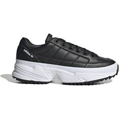 Buty sportowe damskie Adidas wiązane na płaskiej podeszwie
