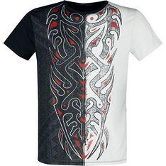 T-shirt męski w nadruki