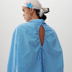 Reserved - Bawełniana koszula oversize - Wielobarwny