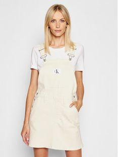 Calvin Klein Jeans Sukienka jeansowa J20J215441 Beżowy Regular Fit