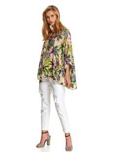 Luźna bluzka w kwiatowy nadruk
