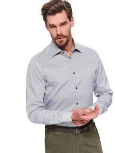 Koszula długi rękaw  męska shaped fit