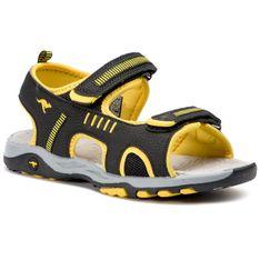 Sandały KANGAROOS - K-Logan 18338 000 5028 D Jet Black/Sun Yellow