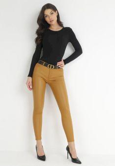 Żółte Spodnie Skinny Copperfoot
