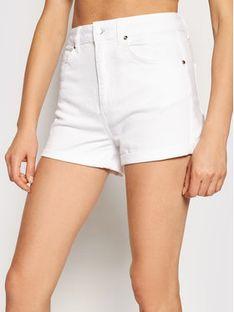 Liu Jo Szorty jeansowe WA1253 T4033 Biały Slim Fit