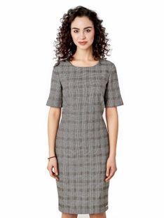 Klasyczna sukienka w kratę Potis & Verso PAZA
