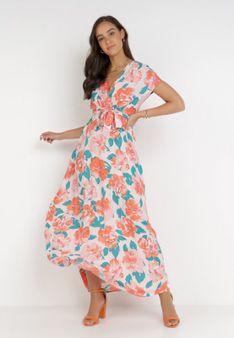 Pomarańczowa Sukienka Prixiusei