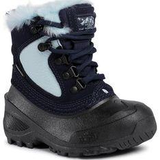 Buty zimowe dziecięce granatowe The North Face bez wzorów śniegowce