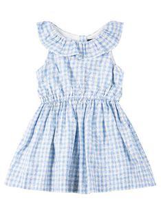 Polo Ralph Lauren Sukienka codzienna Print Ruffle 311784396 Niebieski Regular Fit