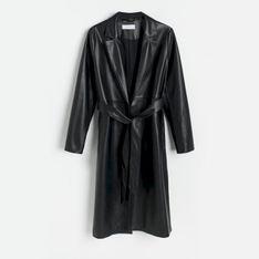 Reserved - Płaszcz z imitacji skóry - Czarny
