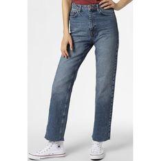 Niebieskie jeansy damskie NA-KD