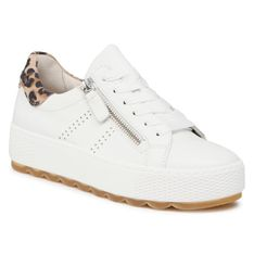 Sneakersy GABOR - 66.538.51 Weiss/Natur